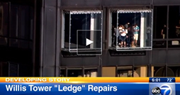 Watch ABC 7 News interview with Prof. Farhad Ansari about the glass crack in the Willis Tower skydeck ledge.
